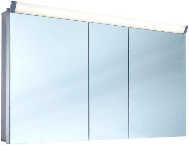 Schneider Paliline LED Spiegelschrank B:130xH:76xT:12cm 3 Türen Alu eloxiert 159.130.02.50