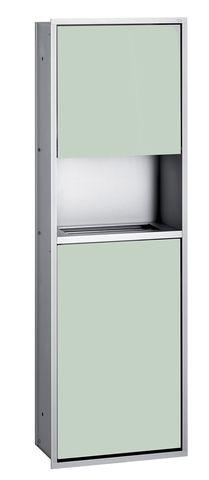 Emco asis 300 Sanitärmodul Unterputz H:100cm ohne Einbaurahmen Aluminium optiwhite 975227451