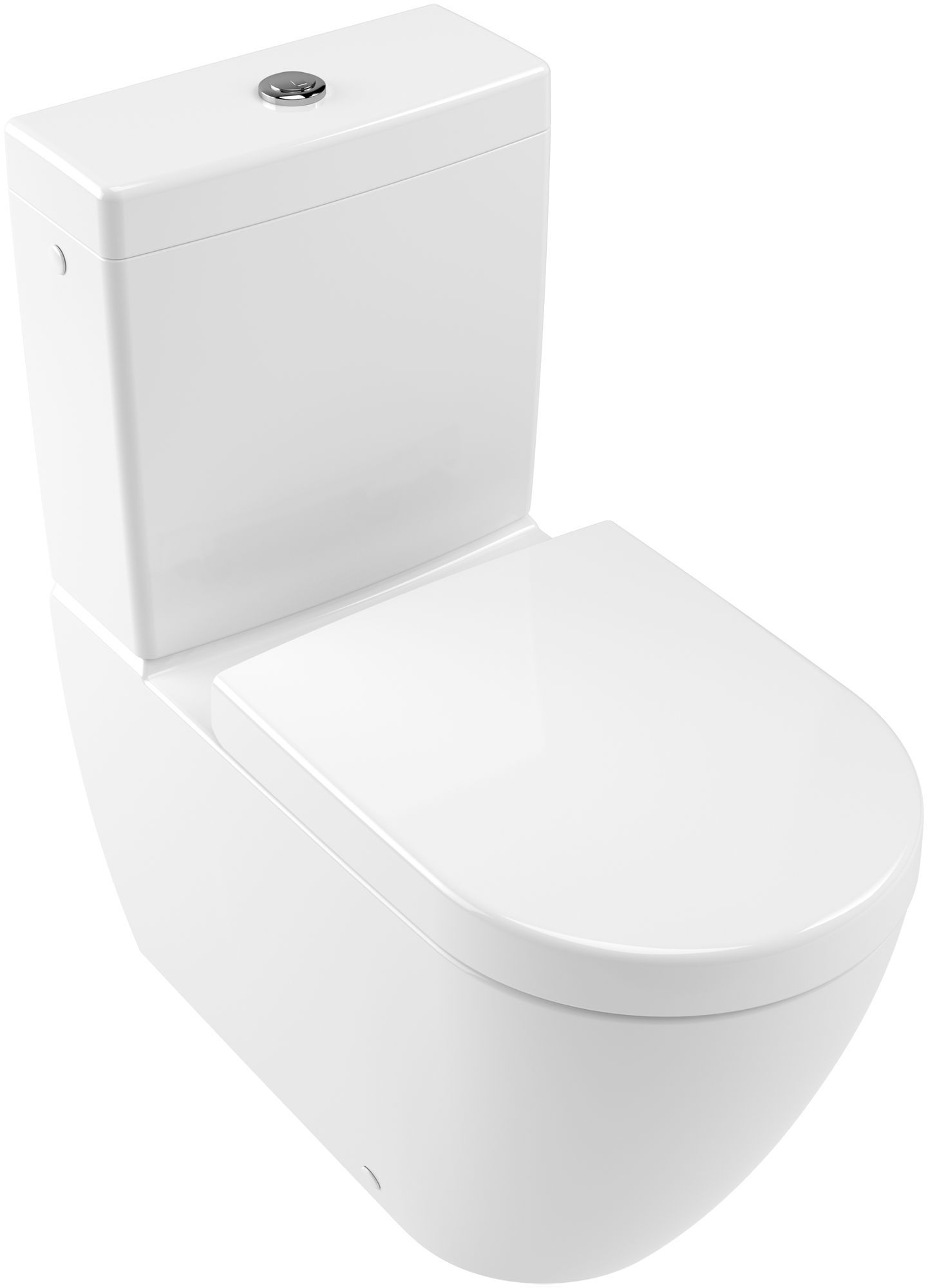 Villeroy & Boch Subway 2.0 Tiefspül-Stand-WC für Kombination spülrandlos DirectFlush B:37xL:70cm weiß Ceramicplus 5617R0R1