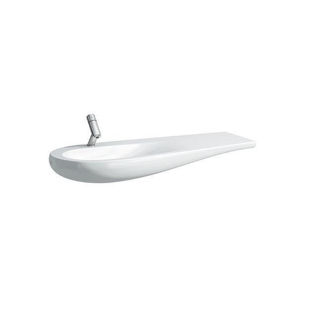 Laufen Alessi One Waschtisch B:120xT:50cm 1 Hahnloch mittig mit Überlauf Ablage rechts unterbaufähig weiß mit CleanCoat LCC H8149734001041