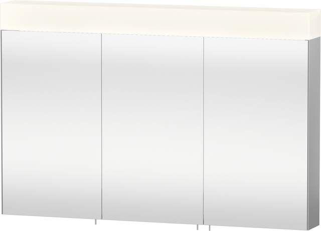 Duravit Vero Spiegelschrank mit Beleuchtung B:120xH:14,2xT:80cm 3 Spiegeltüren verspiegelt VE750400000