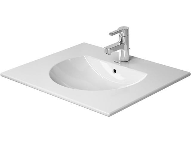 Duravit Darling New Möbelwaschtisch B:63xT:52cm 1 Hahnloch mittig mit Überlauf weiß 0499630000
