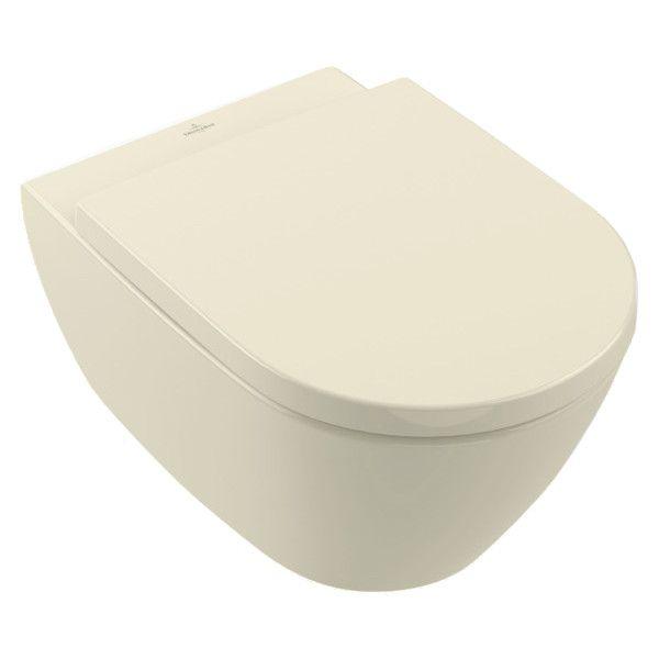 Villeroy & Boch Subway 2.0 Wand-Tiefspül-WC DirectFlush mit offenem Spülrand L:56,5xB:37,5xH:41,5cm pergamon mit CeramicPlus 5614R0R3