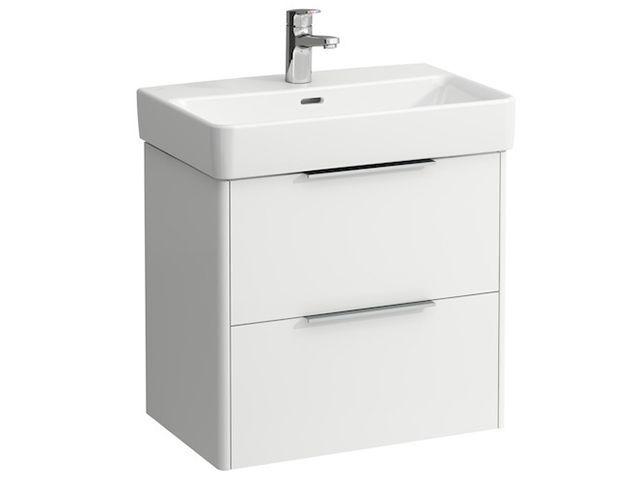 Laufen Base für Pro S Waschtischunterschrank B:57cmxH:53cmxT:36cm mit 2 Schubladen Weiß matt H4022121102601