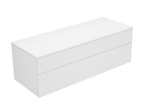 Keuco Edition 400 Sideboard wandhängend 2 Frontauszüge 1400 x 472 x 535 mm titan/Glas titan klar 31763130000