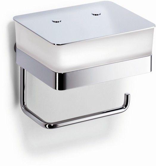 Giese WC-Duo für Feuchtpapier mit Papierhalter Kristallglas satinert und chrom 31770-02