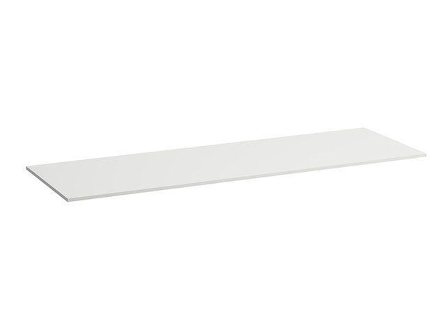 Laufen SPACE Waschtischplatte 158x52x1,3cm mit Ausschnitt mittig weiss matt H4110531601001