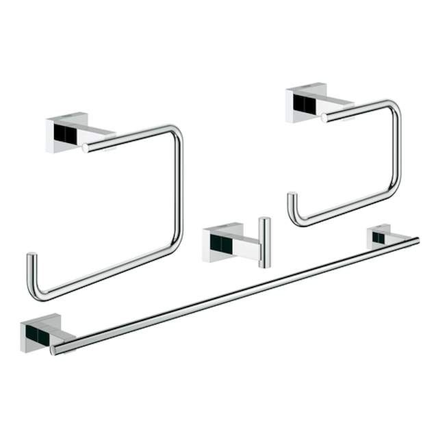 Grohe Essentials Cube Bad-Set 4 in 1 chrom 40778001