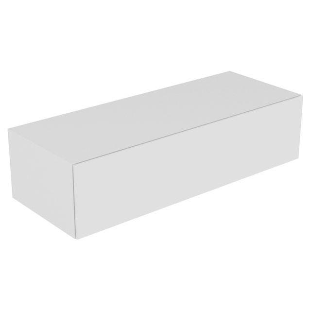 Keuco Edition 11 Sideboard 1 Frontauszug mit Beleuchtung weiß/Glas weiß 31326300100