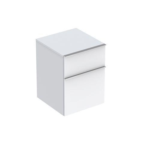 Geberit Keramag iCon Seitenschrank mit 1 Auszug und 1 Schublade B:450xT:477xH:600mm alpin matt 841045000