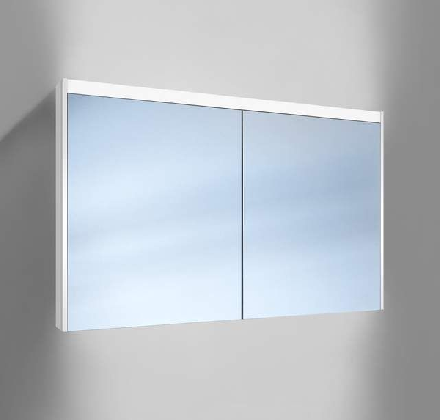 Schneider O-Line LED Spiegelschrank B:120xH:74,5xT:12,8cm 2 Türen weiß 164.120.02.02