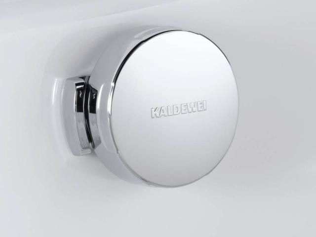 Kaldewei Comfort-Level Ab- und Überlaufgarnitur für Badewannen 4006 für Asymmetric Duo weiß 689710540001