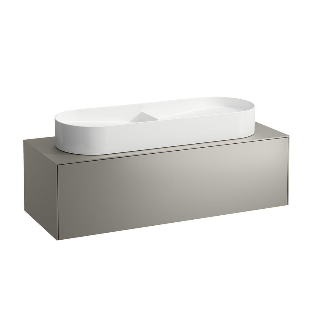 Laufen Waschtischunterbau Sonar 1175x340x455 mit Ausschnitt mittig 1 Schublade mit Push/Pull Funktion für Waschtische H812348/9 gold+nero marquina H4054710341401