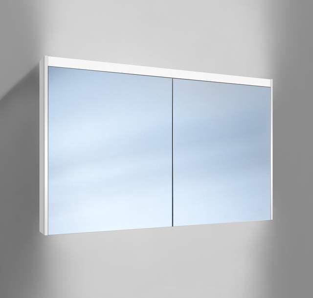 Schneider O-Line LED Spiegelschrank B:120xH:74,5xT:15,8cm 2 Türen weiß 165.120.02.02