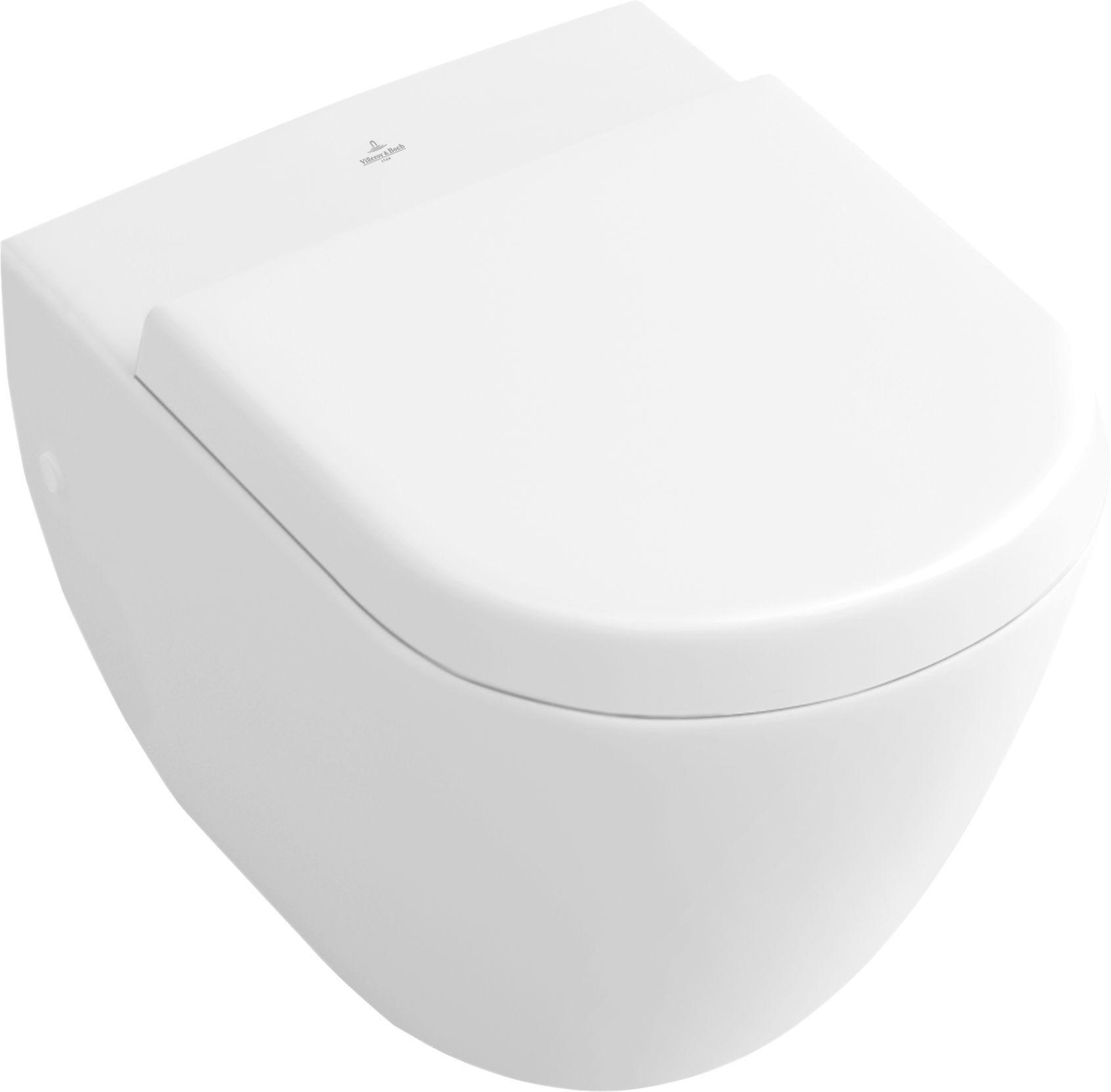 Villeroy & Boch Subway Compact Tiefspül-Wand-WC L:48xB:35,5cm weiß mit Ceramicplus 660410R1