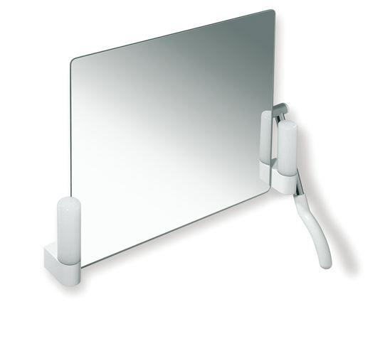 HEWI Kippspiegel mit Beleuchtung LifeSystem Hebel links Reinweiß 802.01.200L 99