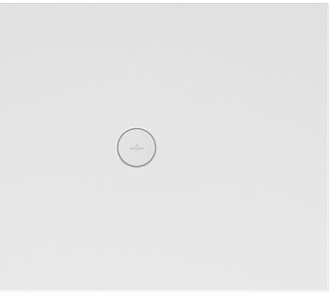 Villeroy & Boch Subway Infinity Duschwanne L:130xB:90xH:4 cm mit kurzer Seite geschnitten weiß mit Antirutsch 6231R402