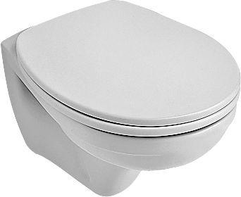 Villeroy & Boch O.Novo Compact Tiefspül-Wand-WC L:49xB:35cm weiß mit Ceramicplus 766710R1
