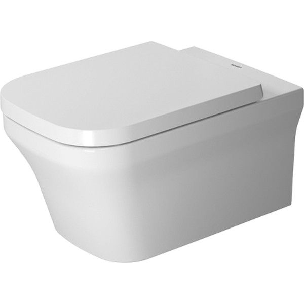 Duravit P3 Comforts Tiefspül-Wand-WC rimless ohne Spülrand L:57cm weiß mit HygieneGlaze 2561092000