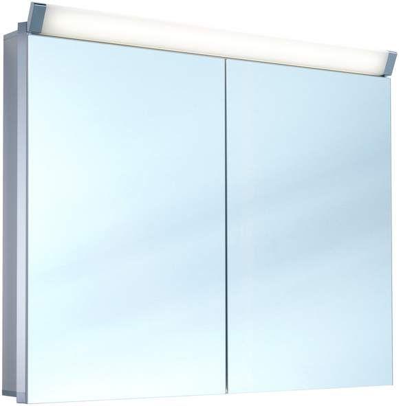 Schneider Paliline LED Spiegelschrank B:90xH:76xT:12cm 2 Türen Alu eloxiert 159.090.02.50