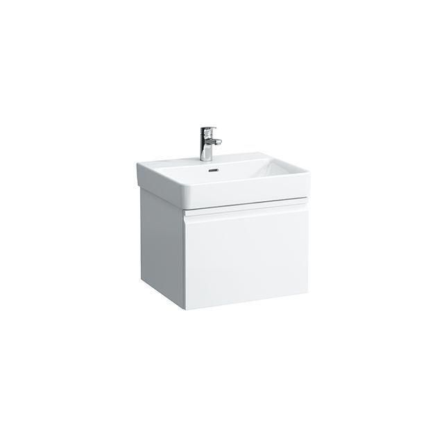 Laufen Pro S Waschtischunterbau 1 Schublade und Innenschublade B:52xH:39xT:45cm weiß glänzend H4833520964751