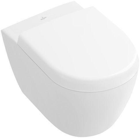 Villeroy & Boch Subway 2.0 Compact Tiefspül-Wand-WC L:48xB:35,5cm weiß mit Ceramicplus 560610R1