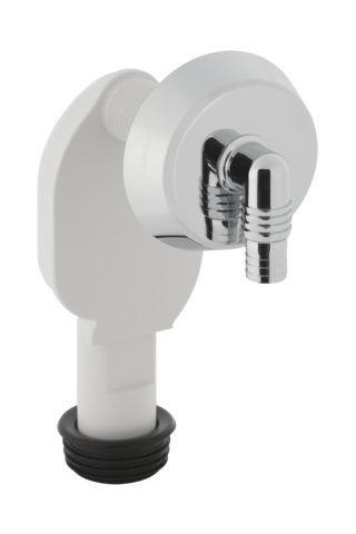 Geberit Unterputz-Geruchsverschluss mit Anschluss und Rosette weiß-alpin D40 152235111