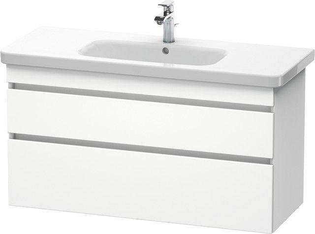 Duravit DuraStyle Waschtischunterschrank wandhängend B:113xH:61xT:44,8cm 2 Schubkästen weiß matt DS649501818