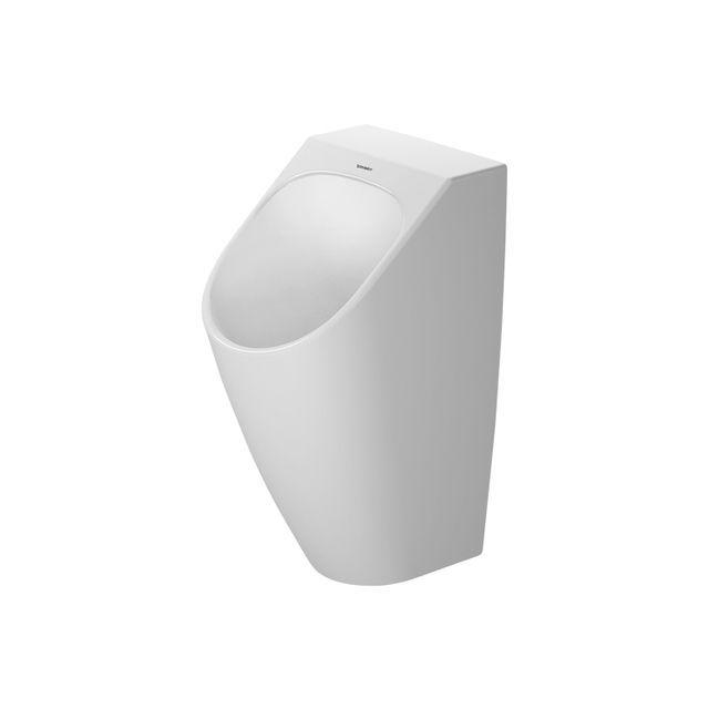Duravit ME by Starck Urinal ohne Deckel mit Zielobjekt wasserlos wasserlos weiß mit HygieneGlaze 2814302007