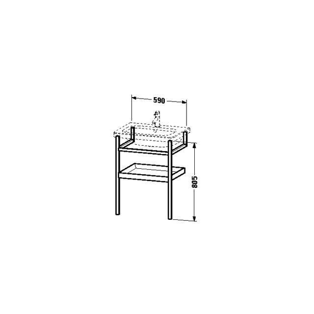 Duravit DuraStyle Möbel-Accessoire Handtuchhalter mit Ablage B:59xH:80,5xT:44 cm graphit matt, nussbaum massiv DS988104977