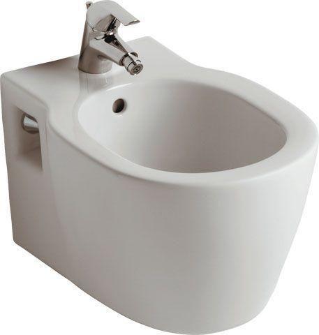 Ideal Standard Contour 21 Wand-Bidet L:54xB:36cm 1 Hahnloch mittig mit Überlauf weiß E712601