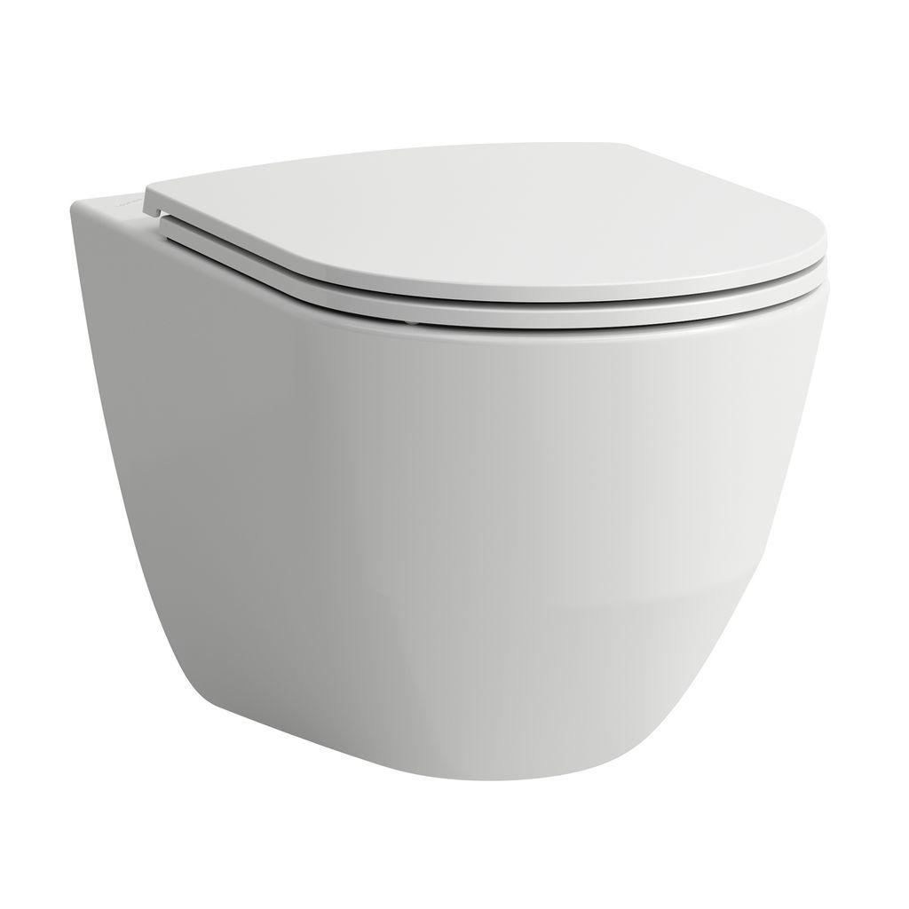 Laufen Tiefspül-WC wandhängend Laufen Pro 560x360x450 spülrandlos Ausführung erhöht LCC weiss H8219624000001