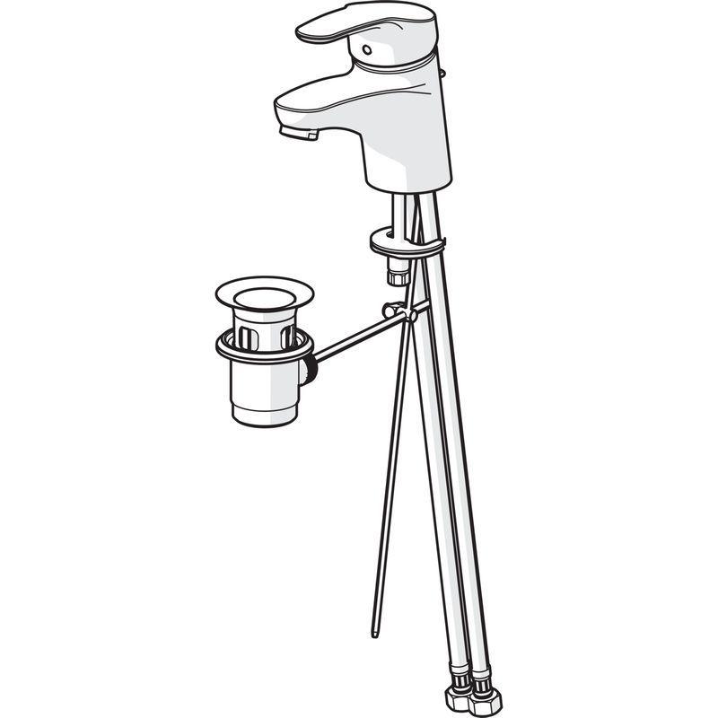 Hansa Mix Waschtisch-Einhand-Einlochbatterie mit Ablaufgarnitur 01102283
