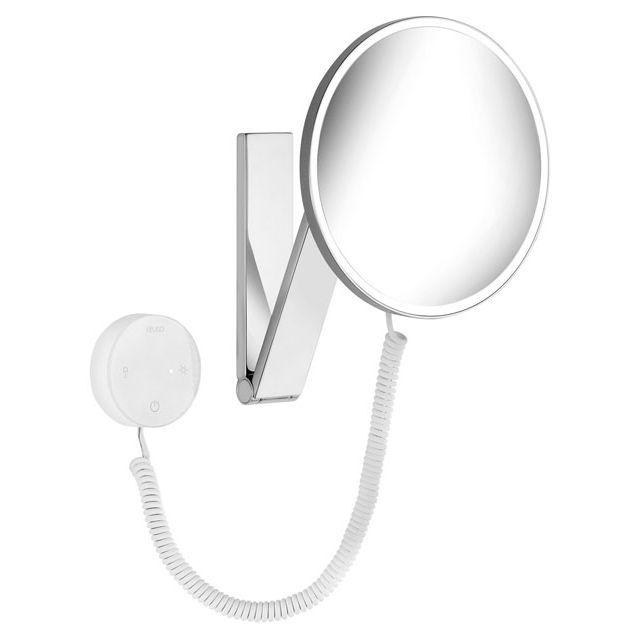 Keuco iLook_move Kosmetikspiegel beleuchtet Glasbedienfeld an Schwenkarm 17612019000