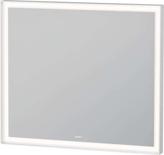 Duravit L-Cube Spiegel mit Beleuchtung B:80xH:70xT:6,7cm weiß matt gepulvert LC738100000