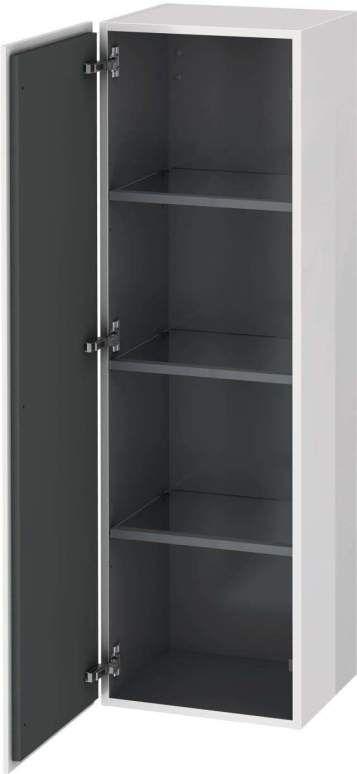 Duravit L-Cube Halbhochschrank B:40xH:132xT:36,3cm 1 Tür Türanschlag rechts flannel grey seidenmatt LC1178R9090