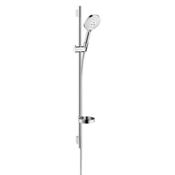 Hansgrohe Unica'S Puro Raindance Select S 120 3jet Handbrause Brausestange 90cm Set weiß chrom 26631400
