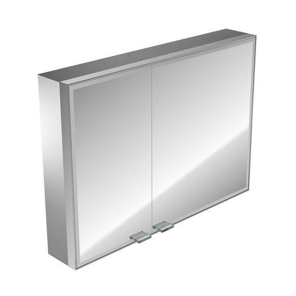 Emco asis prestige Lichtspiegelschrank ohne Radio 989706020, Aufputz, Breite 787 mm, breite Tür rechts