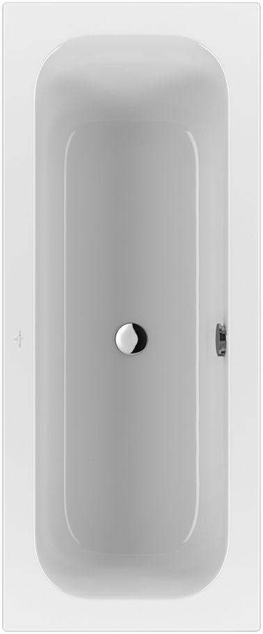 Villeroy & Boch Loop & Friends Solo Rechteck-Badewanne UBA170LFS2V-01 750x1700mm weiß mit eckiger Innenform