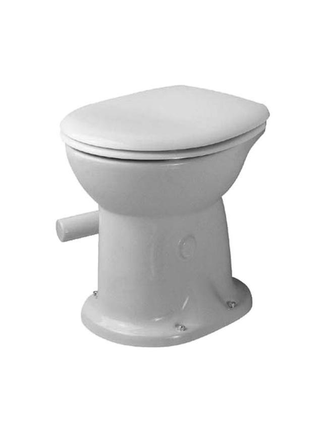 Duravit Duraplus Tiefspül-Stand-WC Duraplus Trockenklosett für Klappenverschluss L:47xB:35cm weiß mit Wondergliss 01800100001