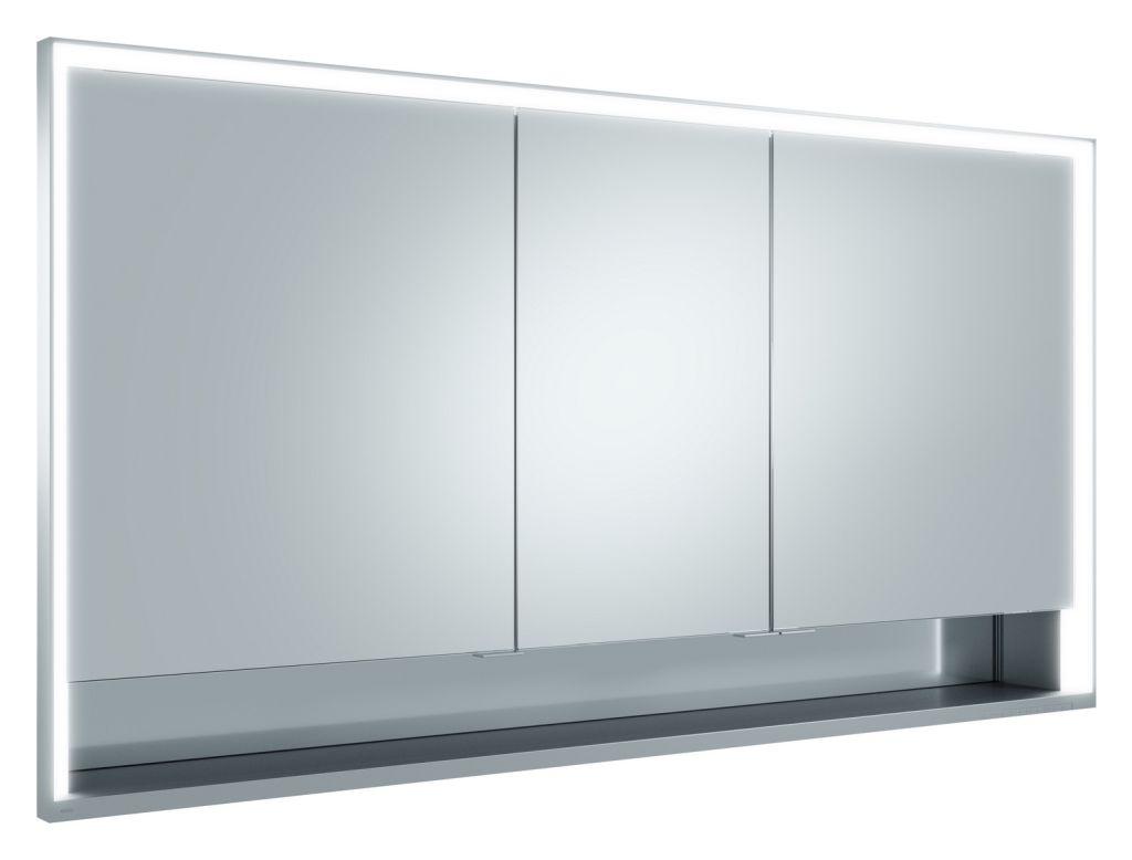 Keuco Lumos Spiegelschrank 14316 mit Ablagefach, Einbau, DALI, H:73,5,B:140,T:16,5cm, silber eloxiert, 14316171303