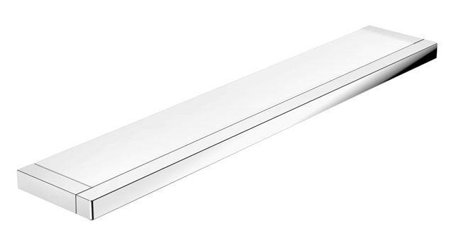 HEWI Ablage System 100 chrom B: 600 mm Platte Glas satiniert 100.03.10045