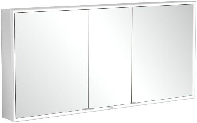 Villeroy & Boch My View Now Einbau-Spiegelschrank B:160xH:75xL:16,8 cm mit LED-Beleuchtung mit 3 Türen mit 2 Steckdosen innnen Smart Home fähig zur Montage vor der Wand Aluminium A4581600