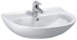Laufen Pro Waschtisch B:65xT:50cm 1 Hahnloch mittig mit Überlauf weiß mit CleanCoat LCC H8109534001041