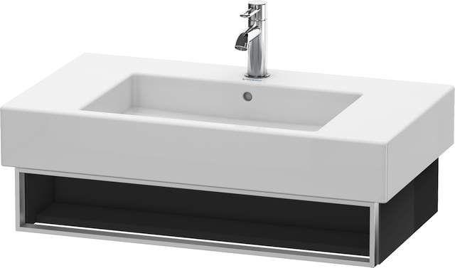 Duravit Vero Waschtischunterschrank wandhängend für 032985 B:80xH:15,5xT:44,6cm 1 Fach schwarz hochglanz VE601304040