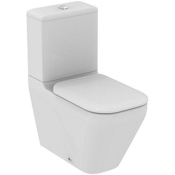 Ideal Standard TONIC II Tiefspül-Stand-WC für Aufsatzspülkasten Aquablade spülrandlos Abgang waagerecht L:66,5xB:36xH:40cm weiß mit IdealPlus K3160MA