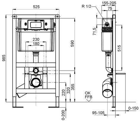 Villeroy & Boch ViConnect WC-Element B:52,5xH:98,5xT:15,5cm 92247800
