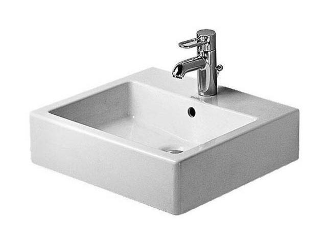 Duravit Vero Waschtisch B:50xT:47cm 1 Hahnloch mittig mit Überlauf weiß 0454500000