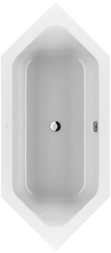 Villeroy & Boch Loop & Friends Duo Sechseck-Badewanne UBA205LFS6V-01 900x2050mm weiß