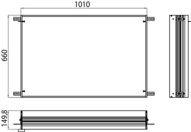 Emco asis Einbaurahmen Prestige 989700021, 1010x660 mm